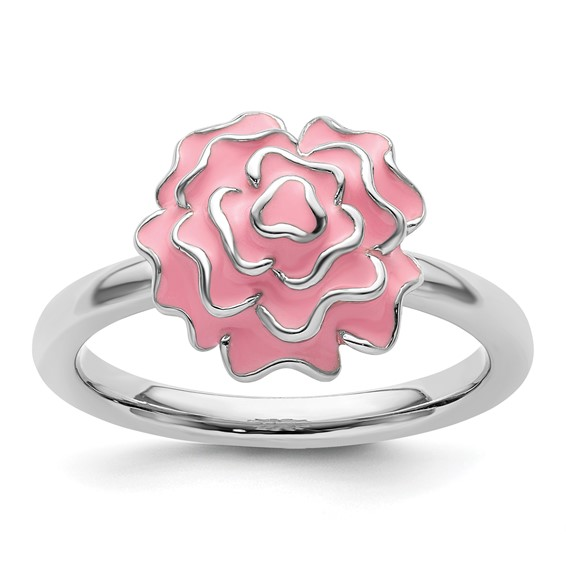 Sterling Silver Stackable Expressions Carnation Ring