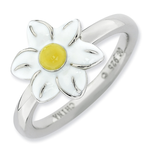 Sterling Silver Stackable Expressions Jonquil Ring