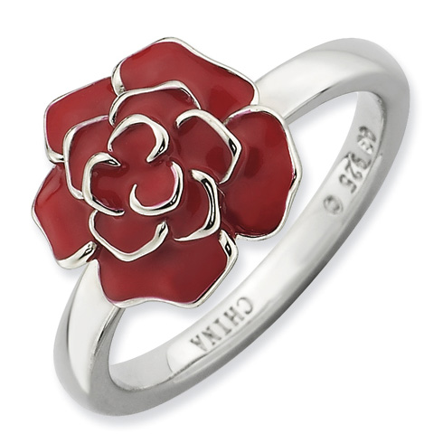 Sterling Silver Stackable Expressions Rose Ring