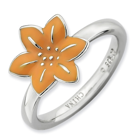 Sterling Silver Stackable Expressions Gladiolus Ring