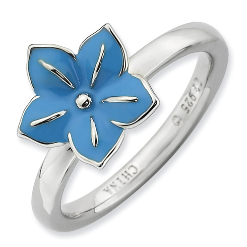 Sterling Silver Stackable Expressions Morning Glory Ring