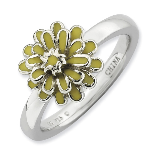 Sterling Silver Stackable Expressions Calendula Ring