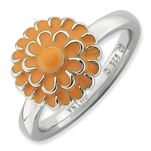 Sterling Silver Stackable Expressions Chrysanthemum Ring