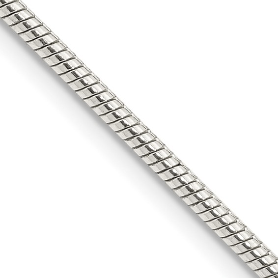 Sterling Silver 16in Round Snake Chain 2mm