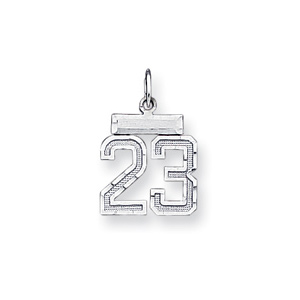 Sterling Silver Small #23 Charm