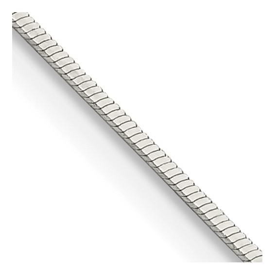 16in Square Snake Chain .7mm - Sterling Silver