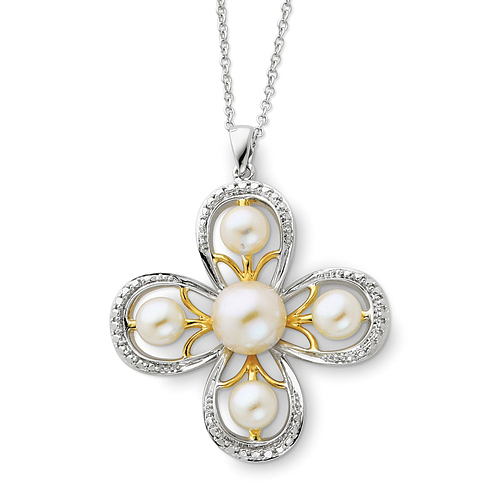Sterling Silver & Gold-plated Amazing Grace 18in Necklace