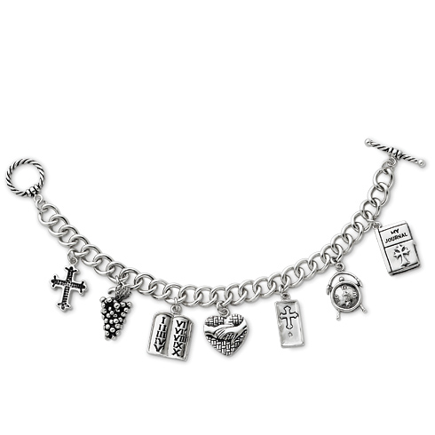 Sterling Silver Answered Prayer 7.5in Locket Charm Bracelet