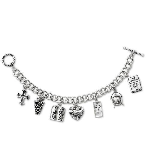 Sterling Silver Answered Prayer 7.5in Locket Charm Bracelet