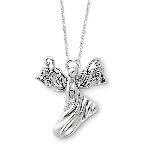 Sterling Silver Angel of Hope 18in Necklace