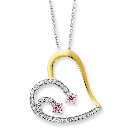 Sterling Silver & Gold-plated Forever By Your Side 18in Necklace