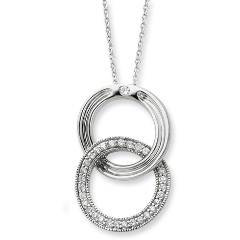 Sterling Silver You Complete Me 18in Necklace