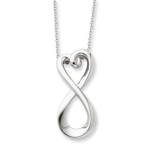 Sterling Silver Infinite Love 18in Necklace