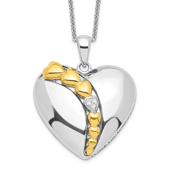 Gold-plated Sterling Silver 18in I Love You More Each Day Necklace
