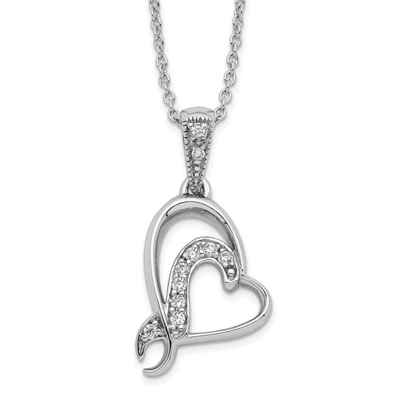 Sterling Silver A Gift For My Sister For My Bridesmaid 18in Necklace