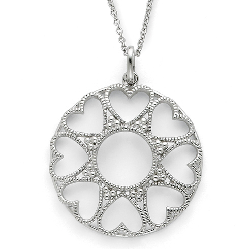 Sterling Silver Love Without Measure 18in Necklace