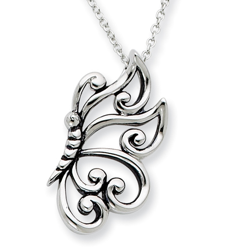 Sterling Silver Believe In Dreams 18in Necklace