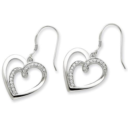Sterling Silver CZ Soulmate Earrings