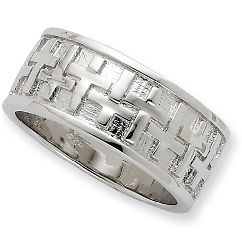 Sterling Silver Transformed Men's Ring Size 9
