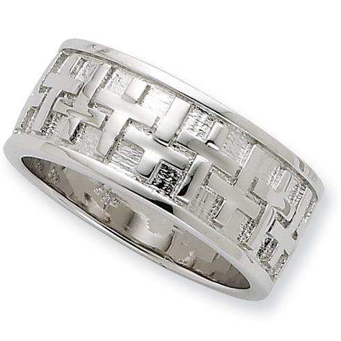 Sterling Silver Transformed Men's Ring Size 11