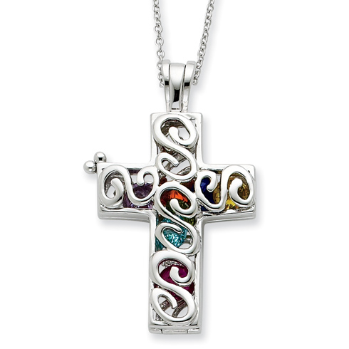 Sterling Silver Promises of The Rainbow 18in Necklace