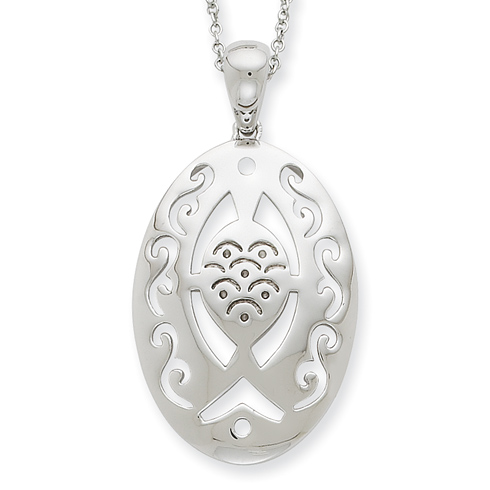 Sterling Silver Praying and Believing With You 18in Necklace