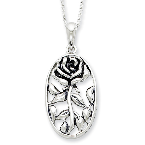 Sterling Silver Antiqued You Are A Blessing To Me 18in Necklace