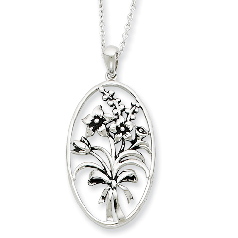 Sterling Silver I Celebrate The Day You Were Born 18in Necklace