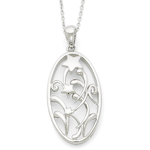 Sterling Silver Antiqued May Your Life Be Full Of Unexpected Blessings 18in