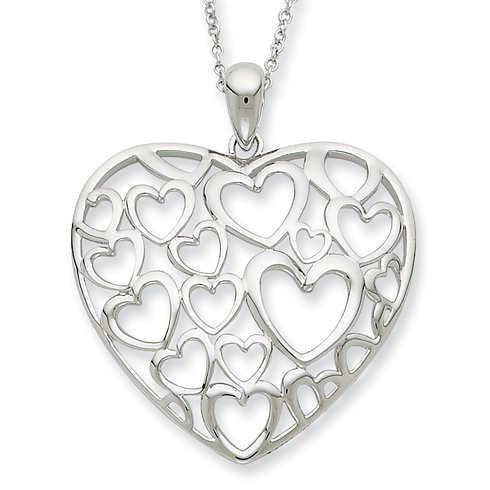 Sterling Silver You Are Loved More Than You Know 18in Necklace
