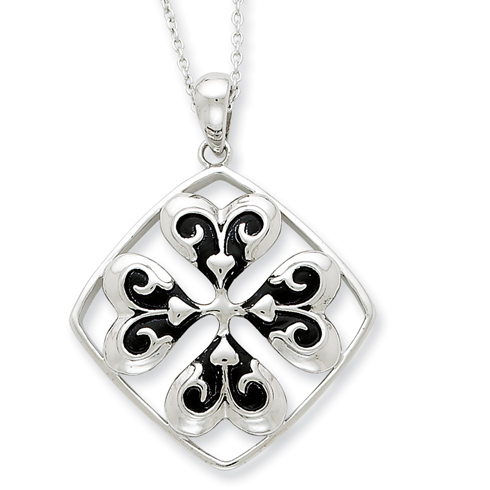 Sterling Silver Wishing You Luck Necklace
