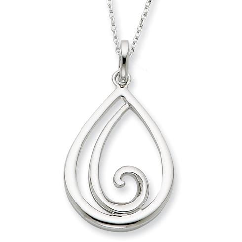 Sterling Silver Remember Me Always 18in Necklace