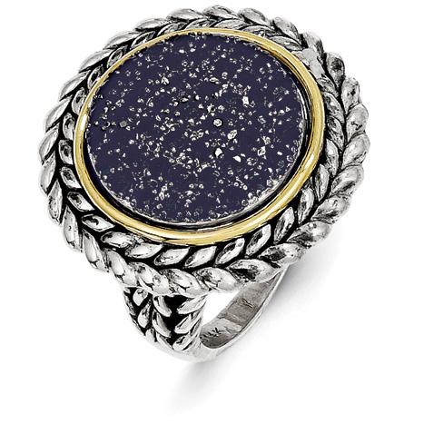 1.8 CT Blue Pavé Sapphire Ring Size 8