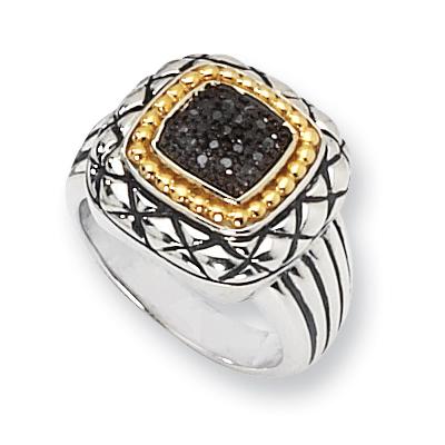 1/10 CT Black Diamond Pavé Ring Size 8
