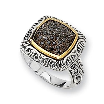 3/8 CT Black Diamond Pavé Ring Size 6