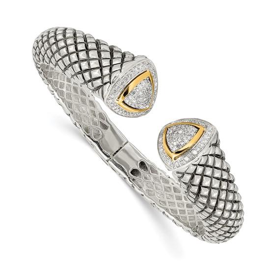 5/8 CT Diamond Bangle - Sterling Silver