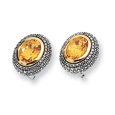 4.6 CT Citrine Earrings - Sterling Silver