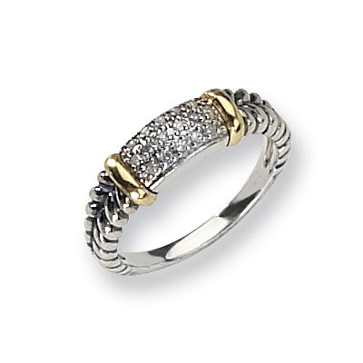 1/10 CT Diamond Ring Size 7 - Sterling Silver