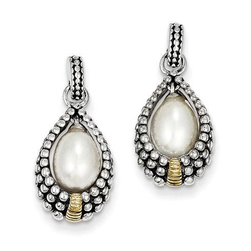 7x5mm Freshwater Pearl Post Earrings