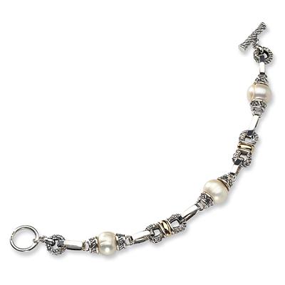 Freshwater Cultured Pearl 7.5in Bracelet - Sterling Silver