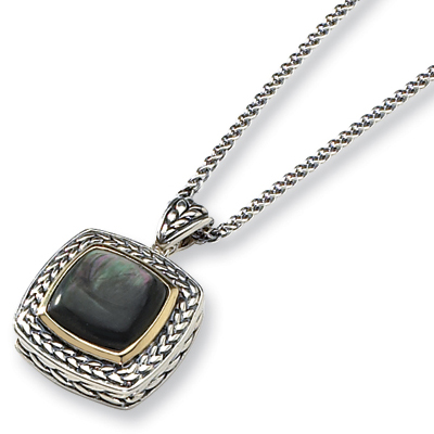 Black Mother of Pearl 18in Necklace