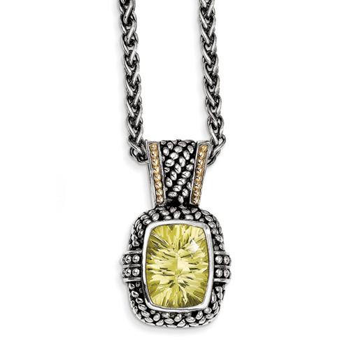 18.18 CT Lemon Quartz 18in Necklace