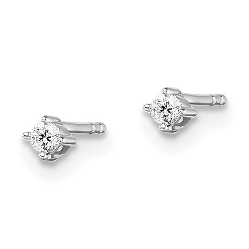 Sterling Silver .06ct Diamond Earrings