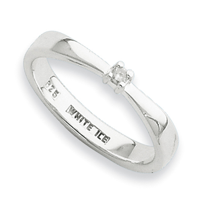 Sterling Silver .03ct Diamond Ring
