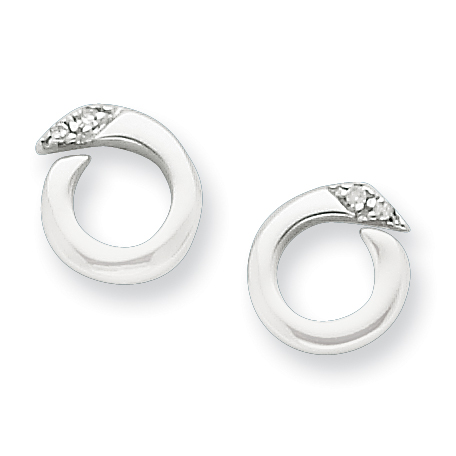 Sterling Silver .02ct Diamond Earrings