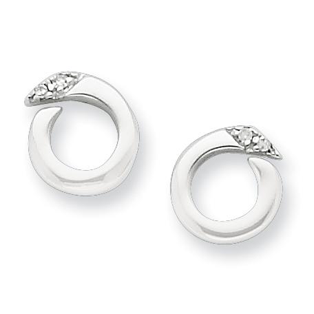 Sterling Silver .02ct Diamond Earrings