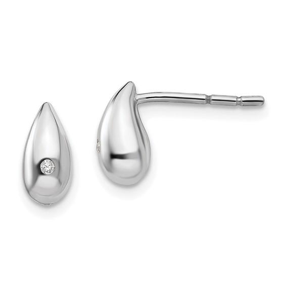 Sterling Silver .01ct Diamond Earrings