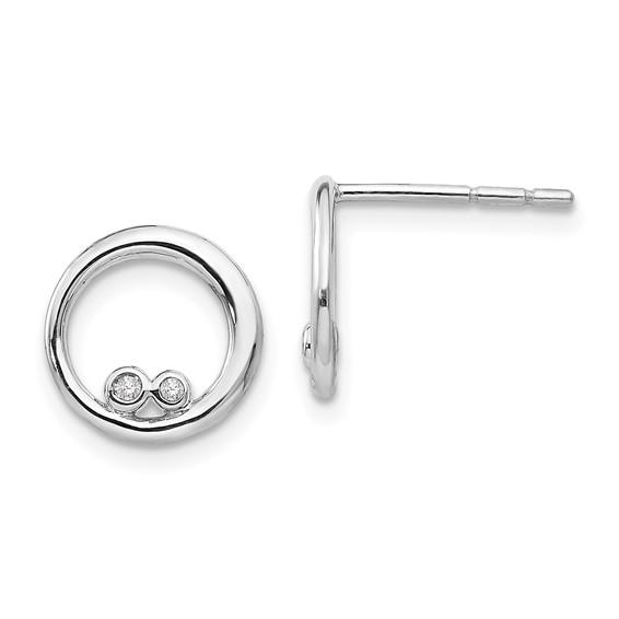 Sterling Silver .03ct Diamond Earrings