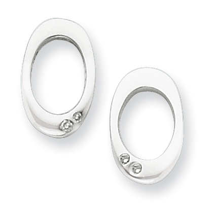 Sterling Silver .015ct Diamond Earrings