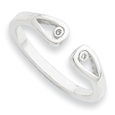 Sterling Silver .01ct Diamond Ring